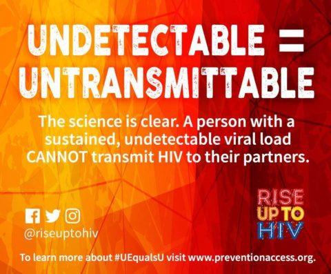 Undetectable = Untransmittable, #UEqualsU